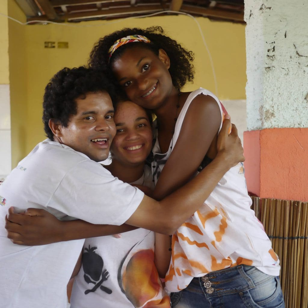 Two Brazilian youngsters from our project with Centro Sabia.