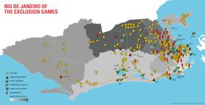 Karte der Region Rio mit gelben