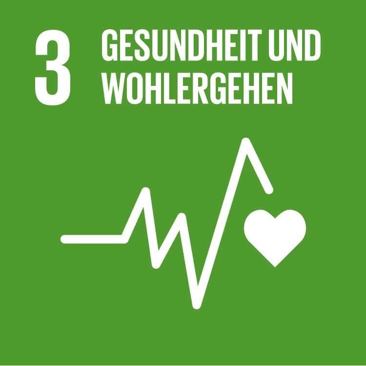 Grünes Logo - Schrift, eine eckige Herzmonitor-Kurve und ein weisses Herz