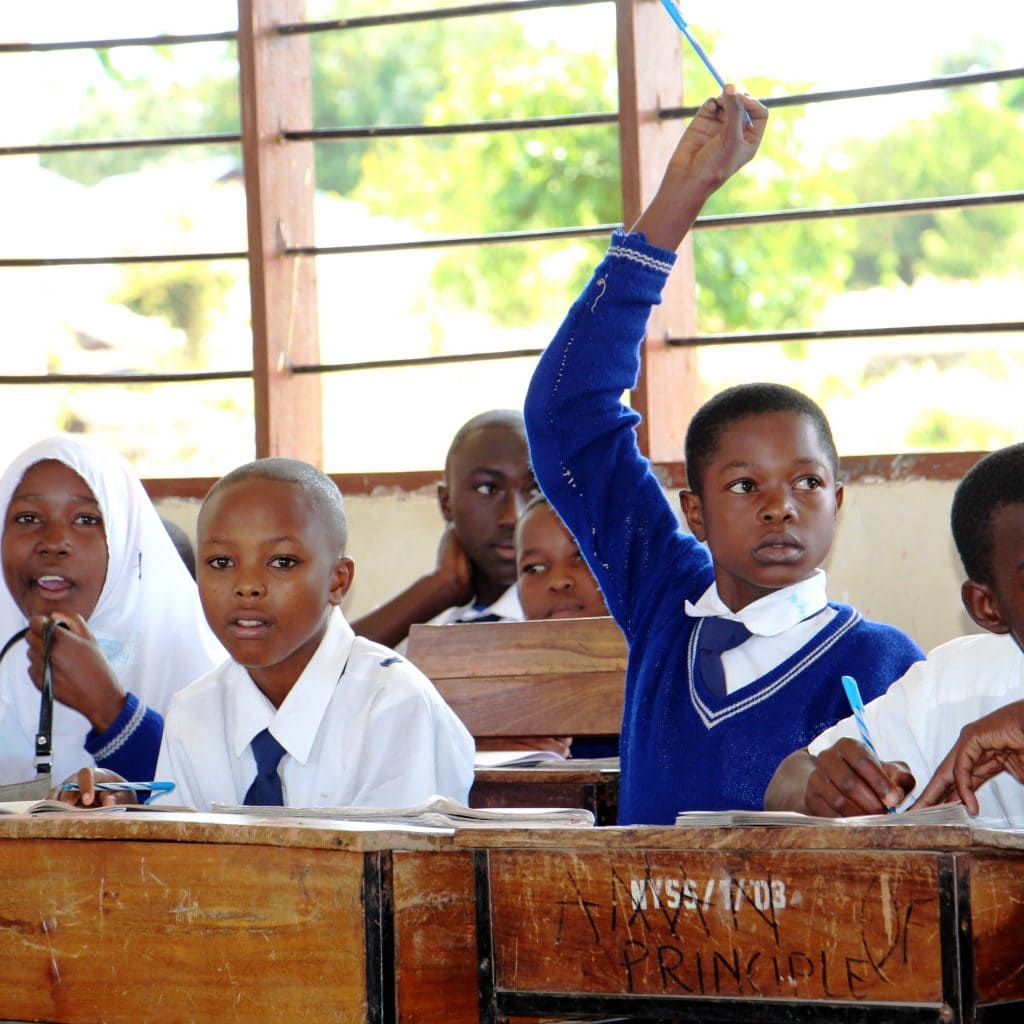 Photo from school lessons in Tanzania.