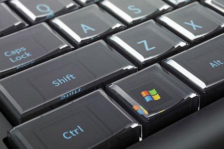 Makroaufnahme einer Tastatur