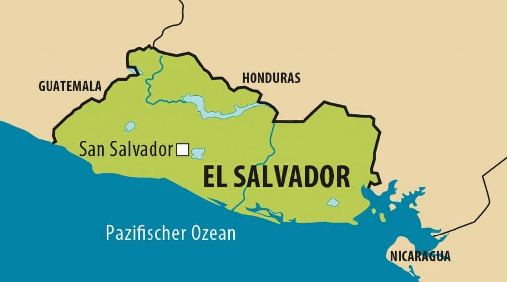 Vereinfachte Landkarte von El Salvador