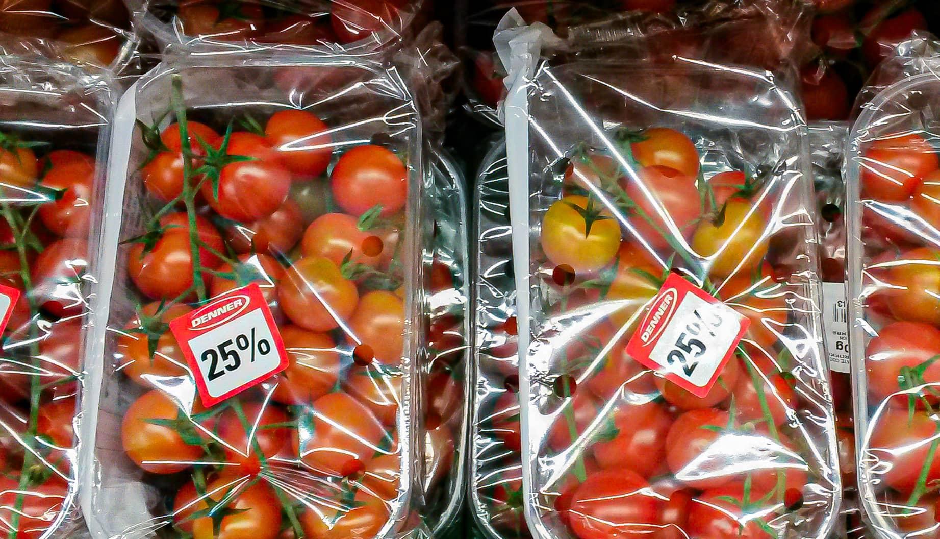 Cherrytomaten in Packungen von Denner