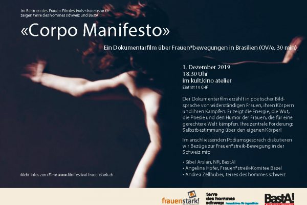 2019 12 01 Flyer Film Corpo Manifesto, RZ Ohne