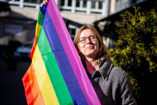 Franziska Lauper With Rainbow Flag IMG 7307