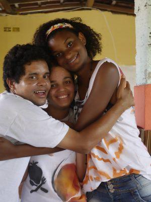 Zwei brasilianische Jugendliche aus unserem Projekt mit Centro Sabia.