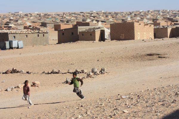 Das sahrouische Flüchtlingslager in der Nähe von Tindouf (Algerien).