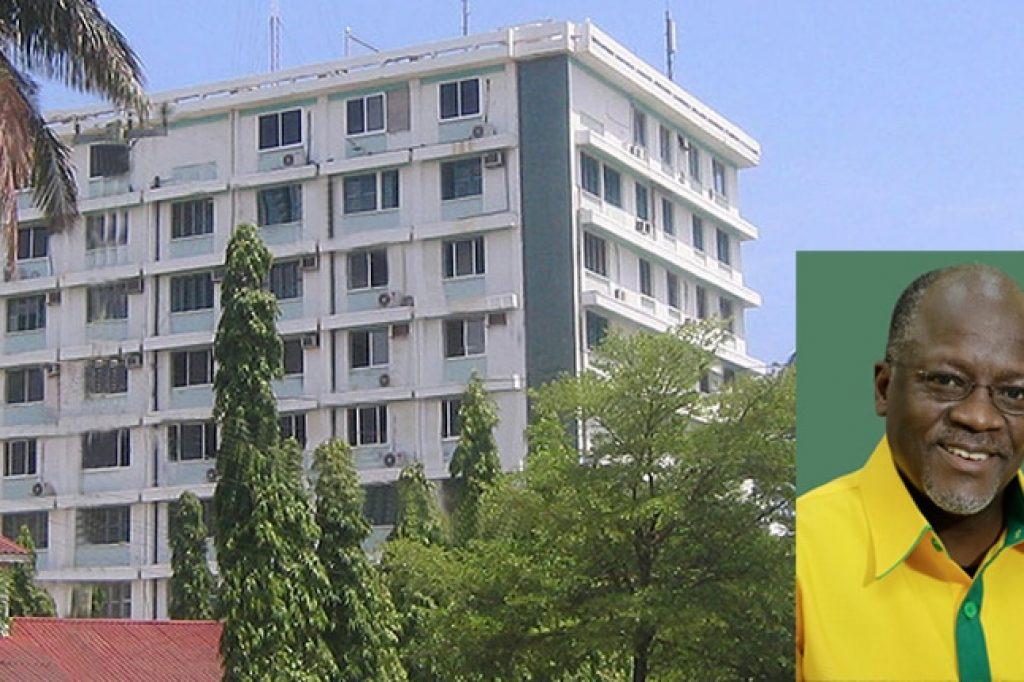Das Hauptgebeude des Kairuki-Spitals in Daressalaam.