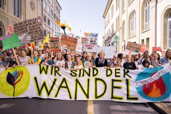 Impressionen von der nationalen Klimademo des Wandels am 28.09.2019 in Bern. (liveit.ch /Manuel Lopez)
